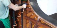 Pianoforte a Coda Pleyel del 1907. Fasi iniziali del restauro